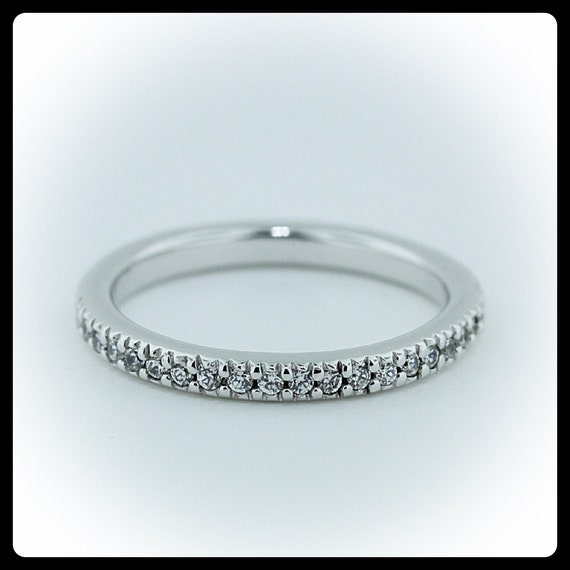 Thin Pave Set Diamond Eternity Band