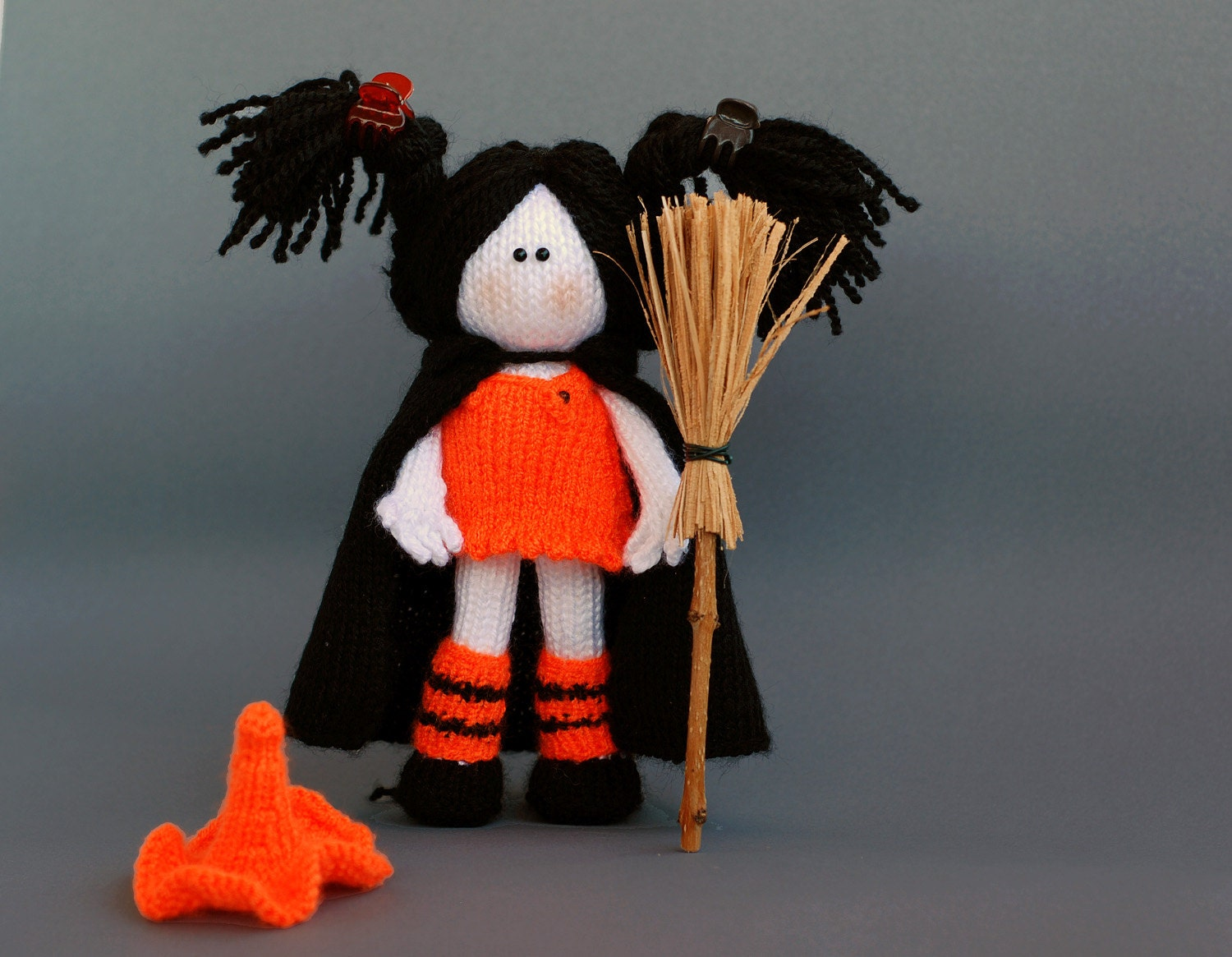 Free Knitting Pattern Witch Doll : Young Witch Doll pdf knitting pattern by deniza17 on Etsy