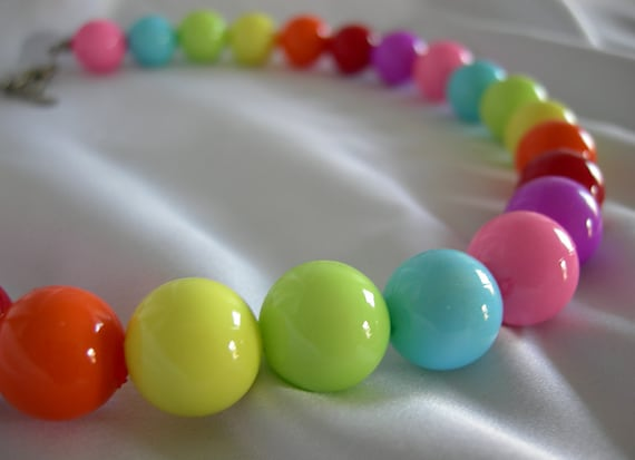 Fun Gumball Choker Necklace - Unsigned - Vintage