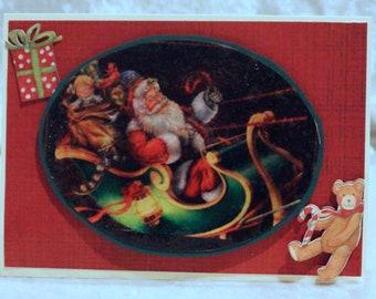 handmade vintage inspired Christmas card