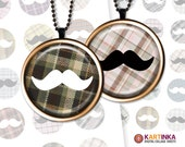 Printable MUSTACHE 1 inch 1.5 inch 7/8 inch images for resin pendants bezel settings magnet craft bottle caps Jewelry Making Glass Cabochon