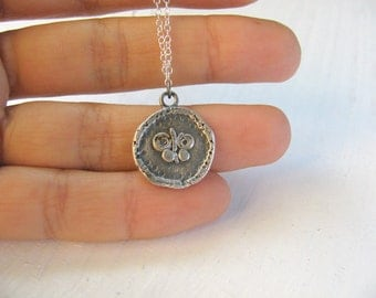 Silver coin necklace, butterfly necklace, silver necklace, disc necklace, coin necklace