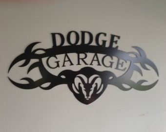 DODGE GARAGE SIGN