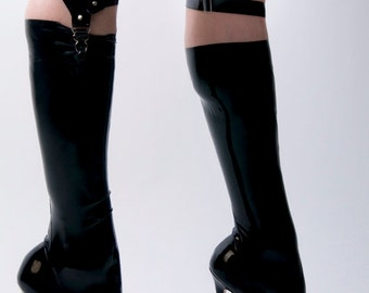 Latex Rubber Sock Garters to hold up your knee socks By VEX