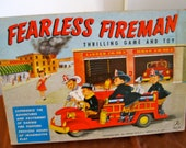 Vintage 1957 Fearless Firefighter board game