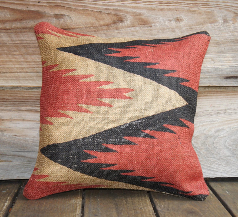 Red Southwestern Pillow : Lighting