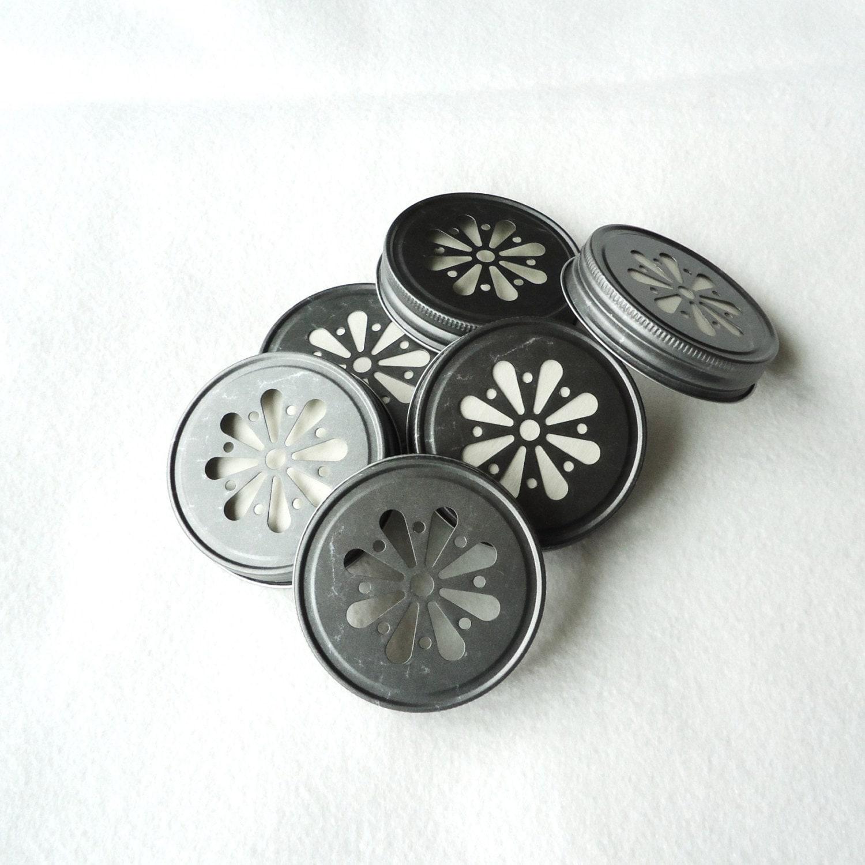 couvercles de bocaux boire daisy 12 couvercle trou par. Black Bedroom Furniture Sets. Home Design Ideas
