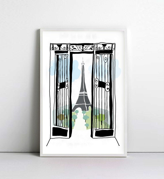 PARIS - France- Eiffel Tower - art print by nicemiceforyou