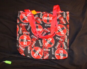 Large Black Coke homemade purse