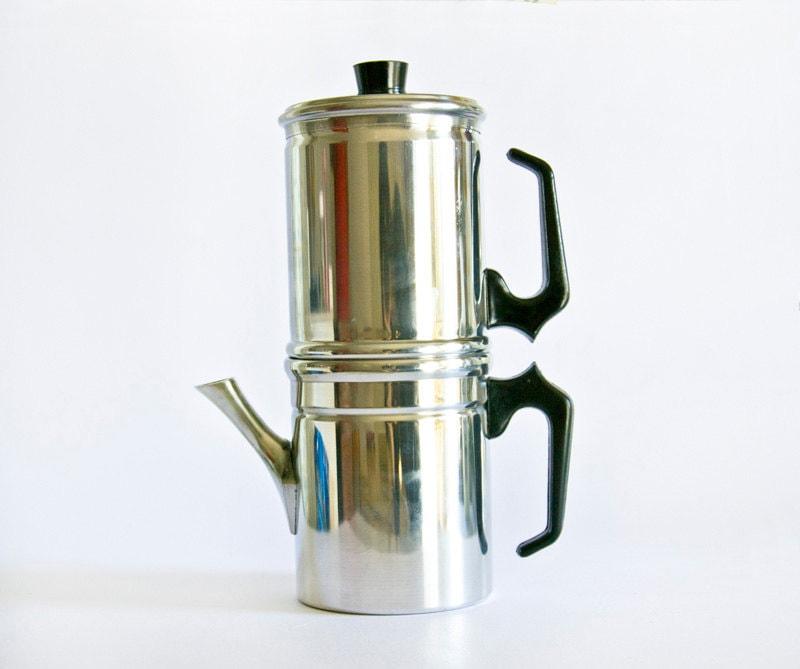 Neapolitan Flip Coffee Pot ~ Vintage italian neapolitan flip coffee pot
