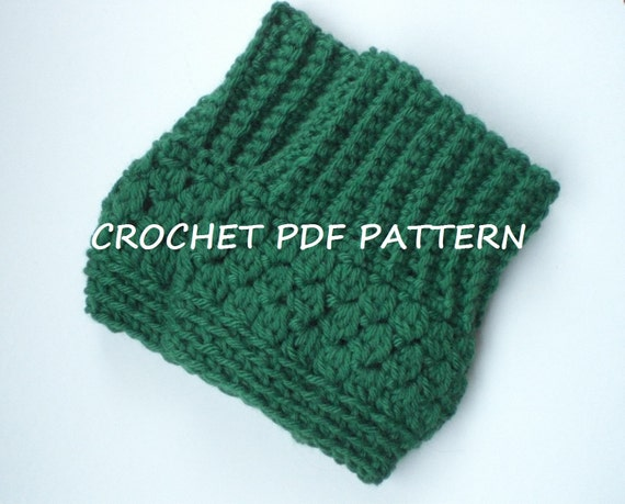 Beginner Crochet Boot Cuff Pattern : Crochet Boot Cuffs Pattern. PDF 021.