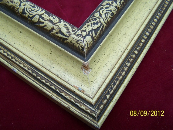 Reserved for Ashley:  One 30 x 23 made to order Picture Frame very ornate cream color