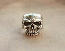 Misteltein Design 925 Sterling Silver -Rolling Stones- Keith Richards Half Skull Custome Ring