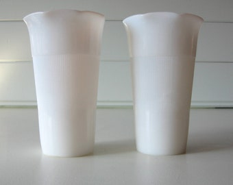 Milk glass vases, Hazel Atlas,  Wedding Decor, Mothers Day, Shabby Chic