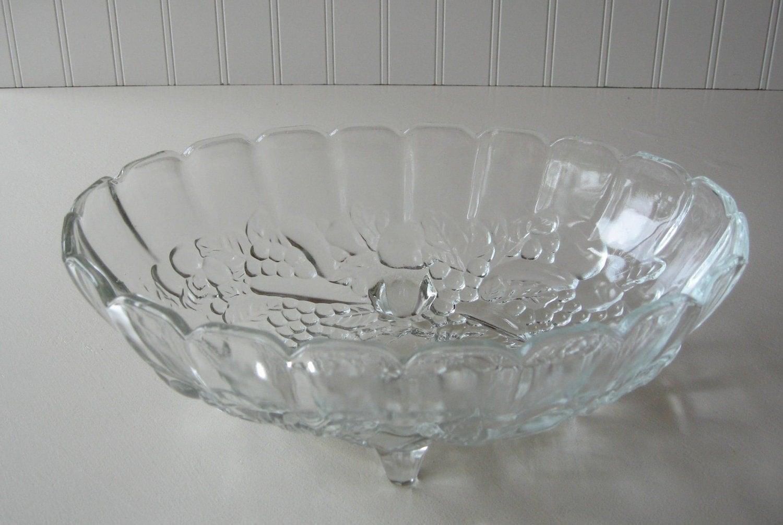 Glass Bowl Indiana Glass Large Fruit Bowl Wedding