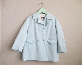 1950s Childrens Coat / Vintage 50s Dress Coat / Kids Jacket Double Breasted