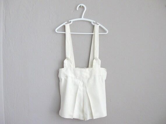 1940s Boys Shorts / White Short Pants Suit Formal