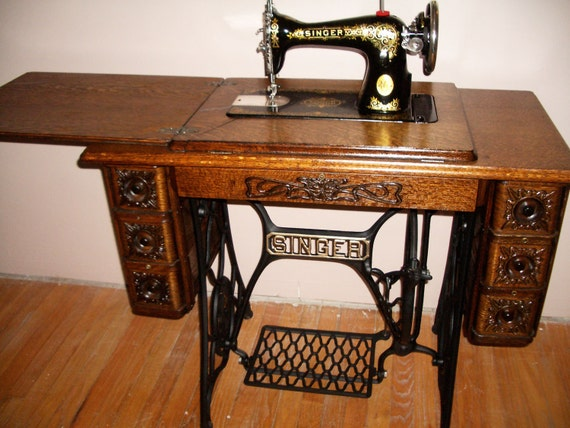Completely restored, everything works $200.00 or best offer. - For Sale - Antique  Singer. Antique Sewing Machine With Cabinet ... - Antique Singer Sewing Machine Cabinet Antique Furniture