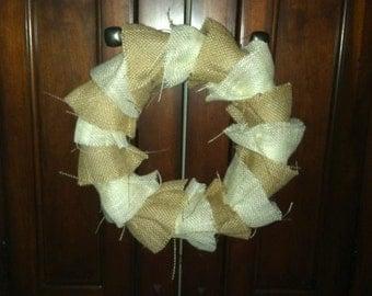 12' burlap ruffle wreath