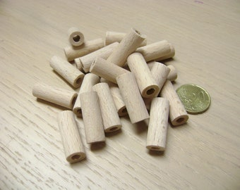 30 Wood Cylinders - 1.1 inch Unfinished Wooden Cylinders