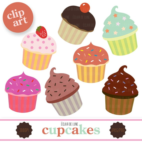 Cake And Art Cupcakes : Cupcake Clip Art Food Clipart Cup Cake by EclairdeLune1 on ...