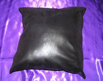 2 faux leather 16 x 16 throw pillow cover zipper closure