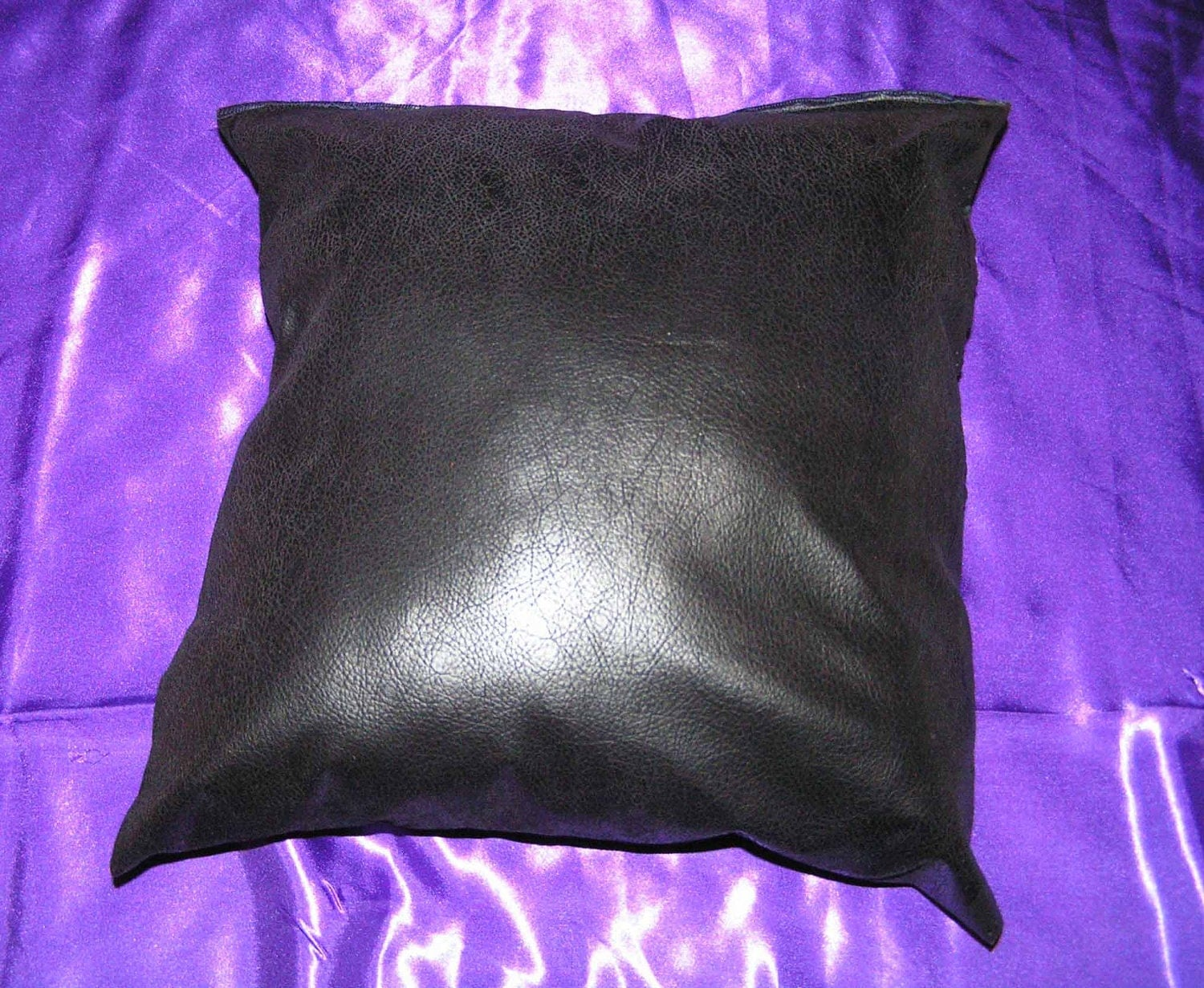 Throw Pillows Faux Leather : 2 faux leather 16 x 16 throw pillow cover zipper closure