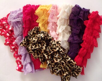 Ruffle lace warmers-Baby Lace Leg Warmers - All Colors - Ready to Ship - U pick color