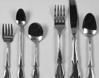 Engraved Personalized Oneida 6 Piece Progress Baby Silverware Fork & Spoon