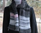 Long warm cozy black (multicolor) Alpaca scarf