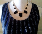 House of Harlow Inspired Geometric necklace