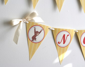 CURIOUS GEORGE Birthday Banner Printable