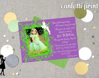 TINKERBELL Birthday Invitation / Photo Card Printable