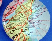 Custom Wintage Map Paperweight - customized with your special city or town.