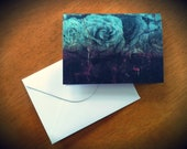 Floral Decay-blank greeting card with envelope (FREE UK DELIVERY)