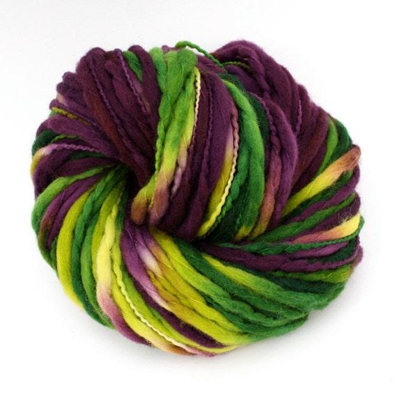 Hand Dyed Thick-n-Thin Merino Wool Yarn - Mardi Gras