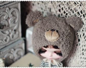 Bear hat (Dark Brown)For Blythe