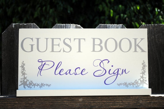 Beach themed Guest Book Please Sign Starfish