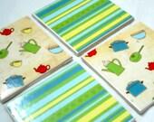 Tile coaster - set of 4 drink coasters - ceramic coaster