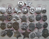 30 OLD WEST  BADGES with pin back