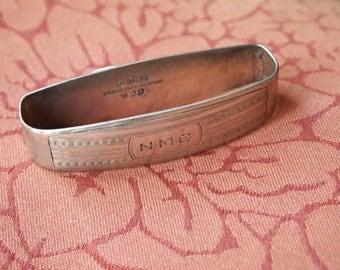 Vintage Oval Watson Sterling Silver Napkin Ring