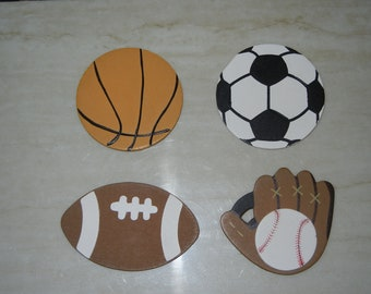 Set of 4 Sports Decorative Outlet Plug Covers -- Electrical Socket Plug Cover - Basketball, Socccer, Football, and Baseball Ready to Ship