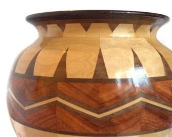 Blonde Chai B Segmented Wood Fine Art Bowl FB6111