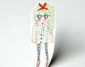 GIRL / Shrink Plastic Brooch