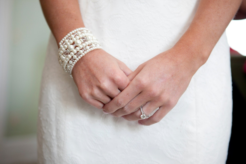 memory wire bracelet pearl wrap bracelet bridal pearl and
