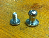 10 Button Studs Medium Nickel