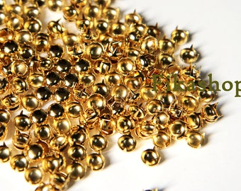 10% Off Clearance SALE: 12mm 50pcs Gold round studs / HIGH Quality - Fikashop