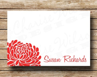 Chrysanthemum Personalized Flat Card