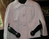 Vintage White Mohair Shawl shrug stole Wrap Coat