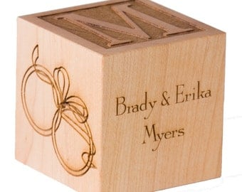Custom Wooden Anniversary Cube 5th Wedding 50th Gift For Couple